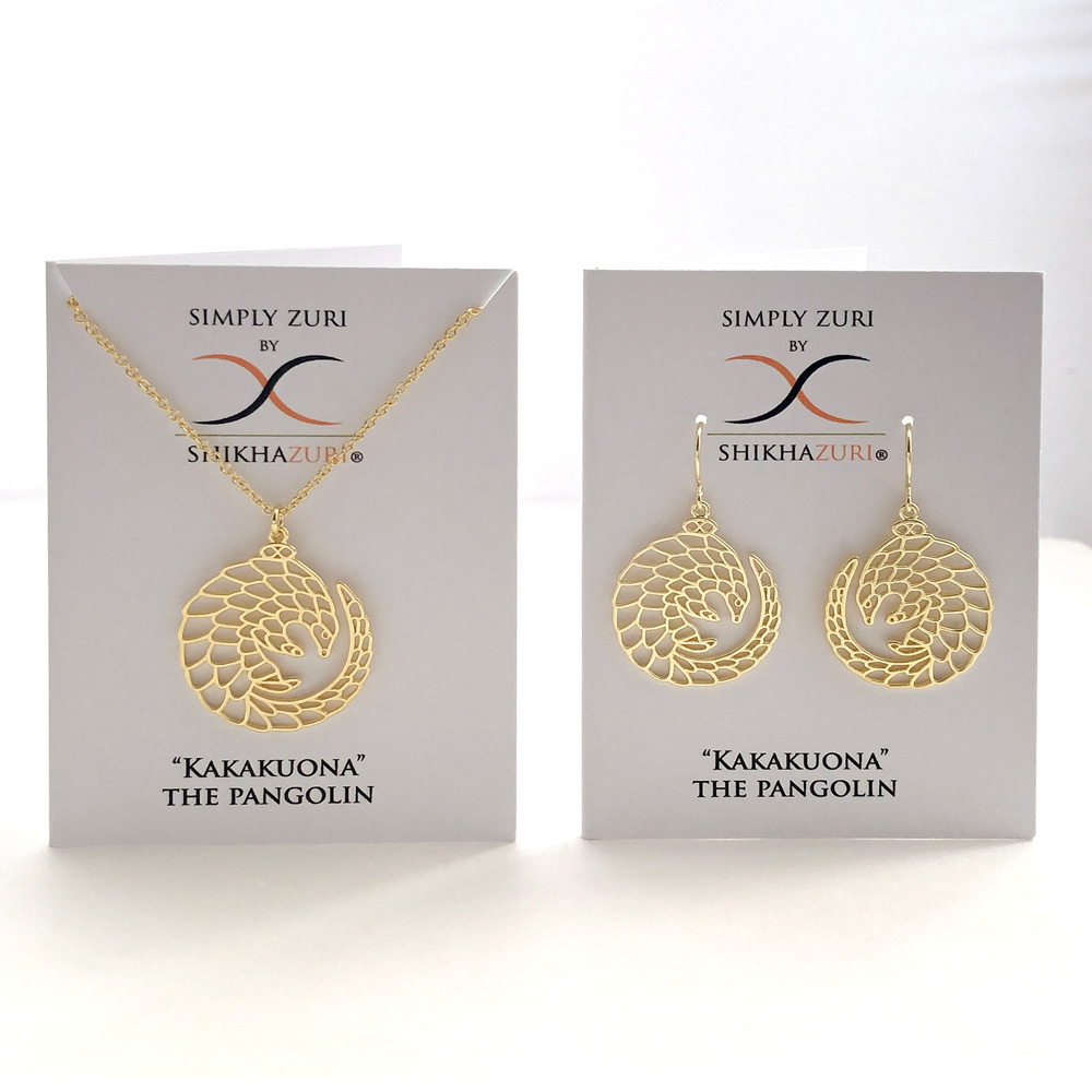 Pangolin Gold Plated Jewellery Carded by SHIKHAZURI
