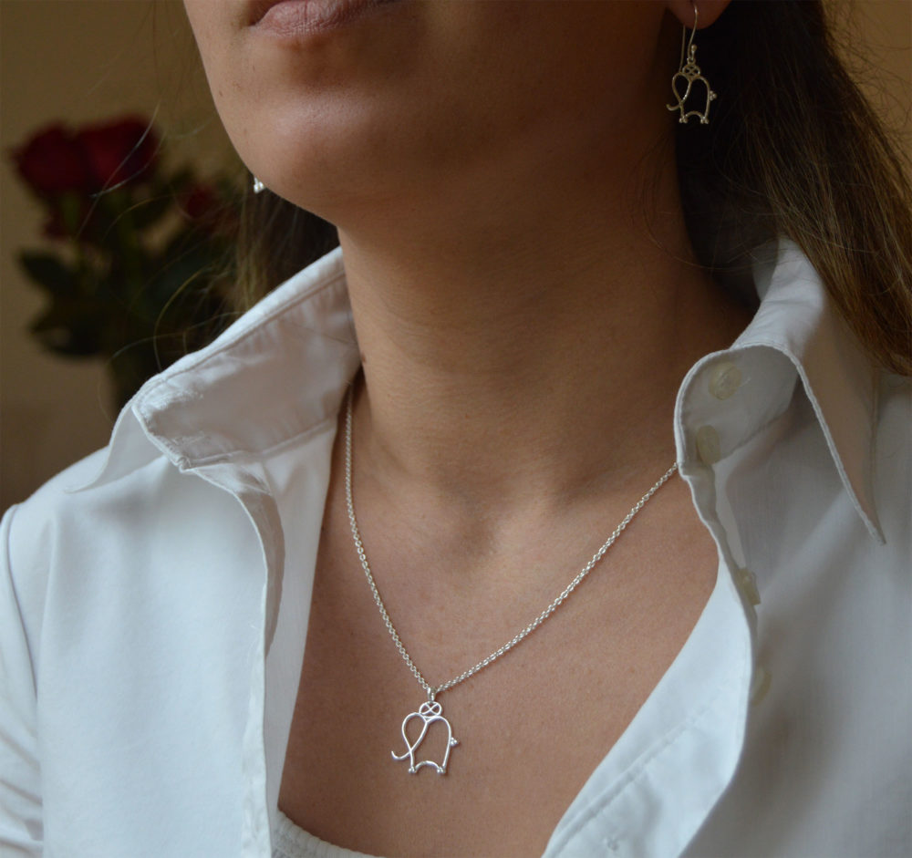 Silver Elephant Jewellery Set by SHIKHAZURI