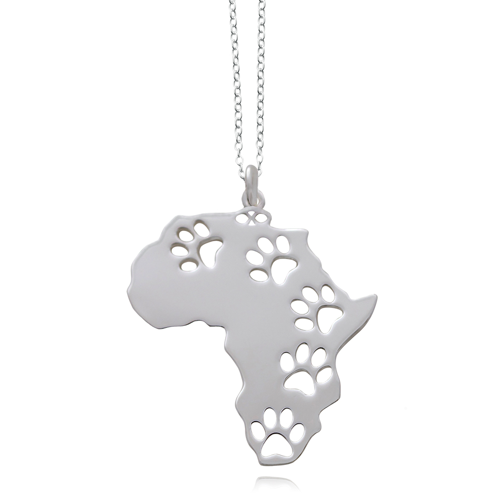 Africa Silver Plated Necklace by SHIKHAZURI