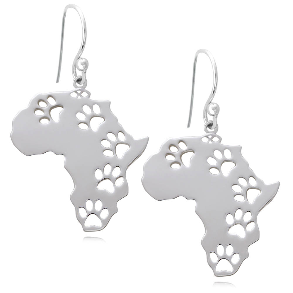 Africa Silver Plated Earrings by SHIKHAZURI
