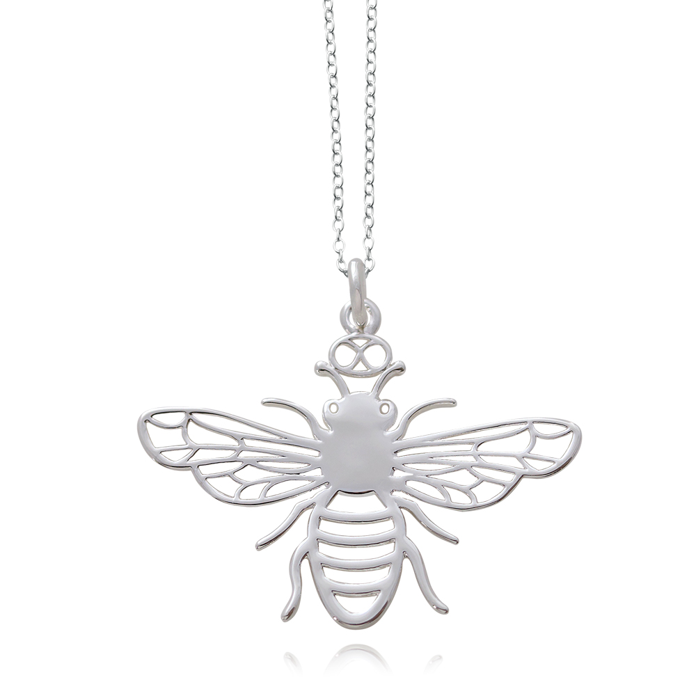 Bee Silver Plated Necklace by SHIKHAZURI