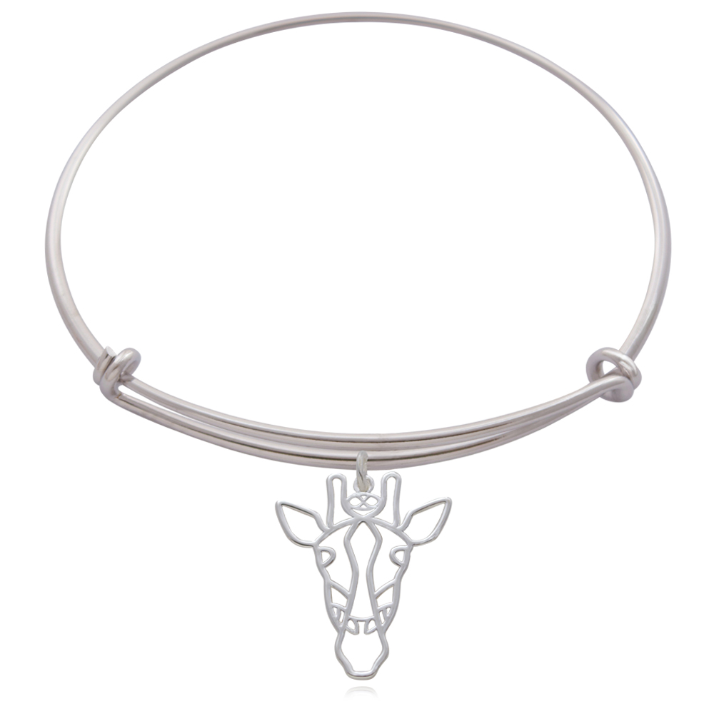 Giraffe Silver Plated Bangle by SHIKHAZURI
