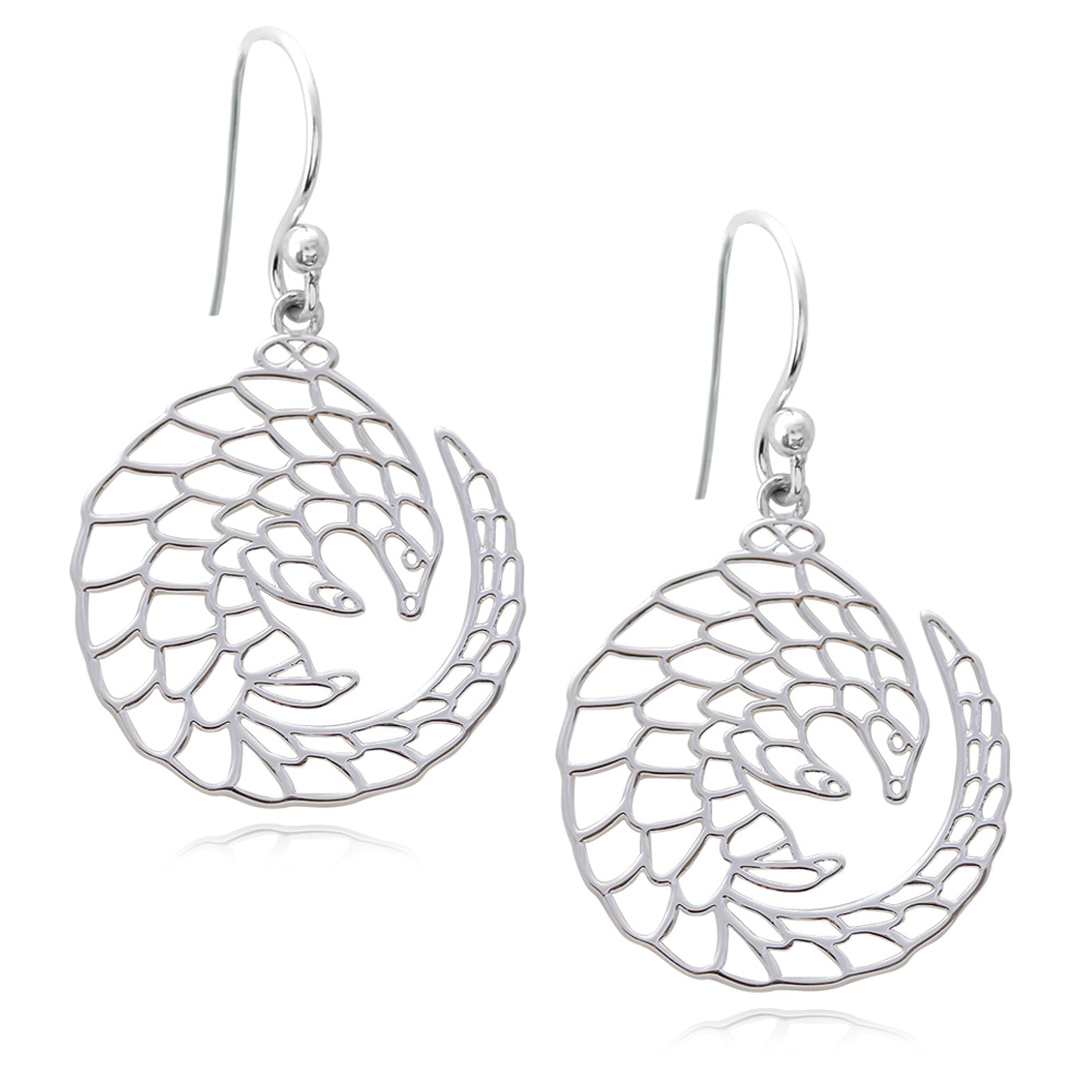 Pangolin Silver Plated Earrings by SHIKHAZURI