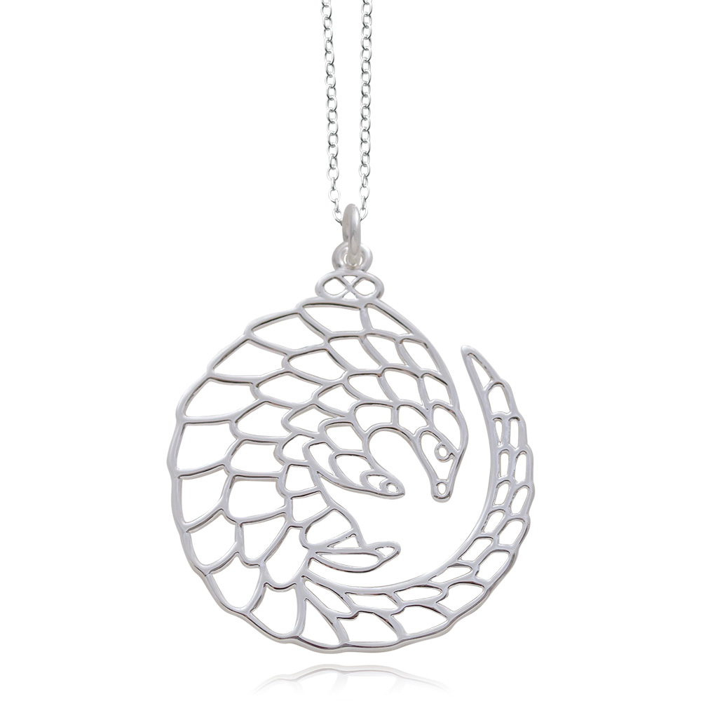 Pangolin Silver Plated Necklace by SHIKHAZURI