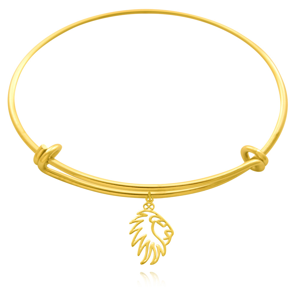 Simba Lion Gold Plated Bangle by SHIKHAZURI