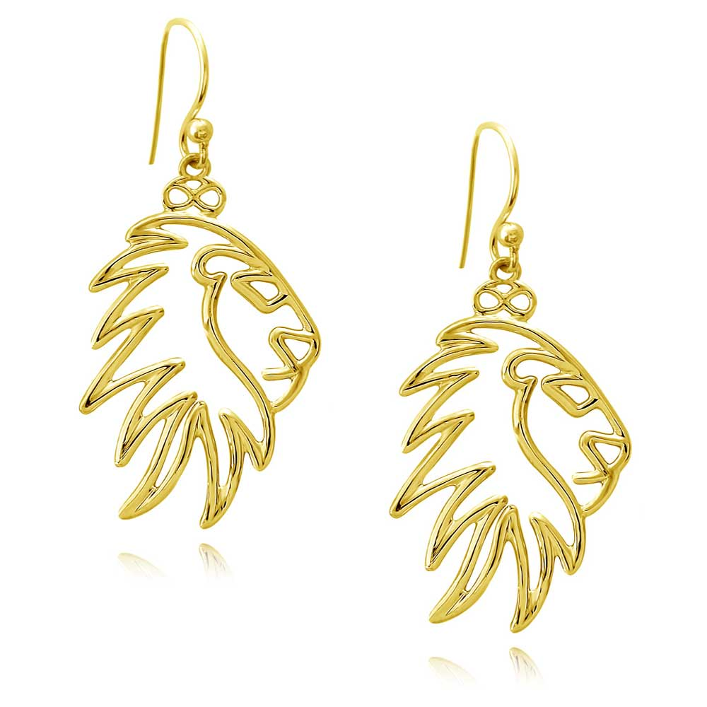 Simba Lion Gold Plated Earrings by SHIKHAZURI