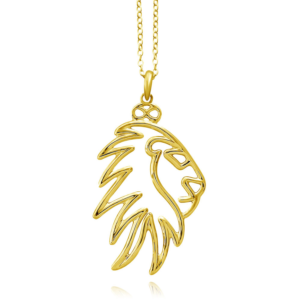 Simba Lion Gold Plated Necklace by SHIKHAZURI