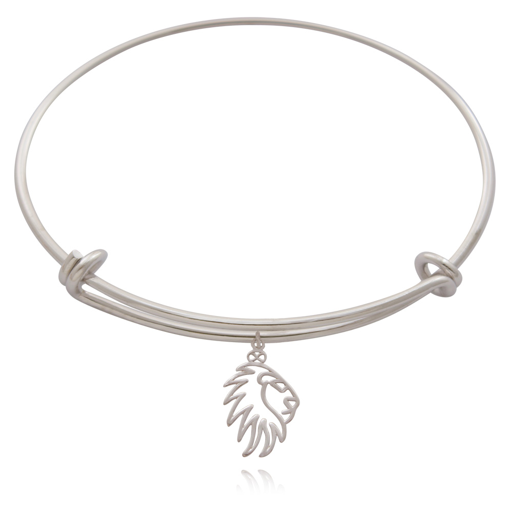 Simba Lion Silver Plated Bangle by SHIKHAZURI