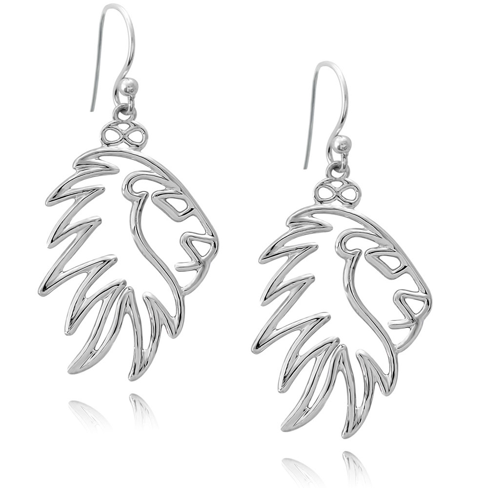 Simba Lion Silver Plated Earrings by SHIKHAZURI