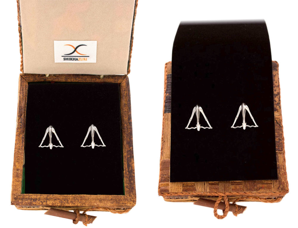 Giraffe Cufflinks boxed packaging by SHIKHAZURI