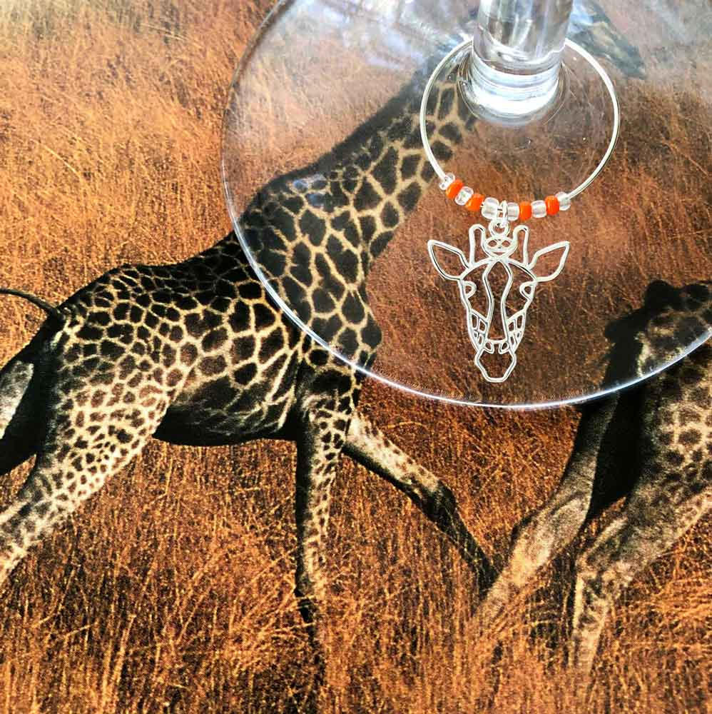 Giraffe Wine Glass Charm by SHIKHAZURI