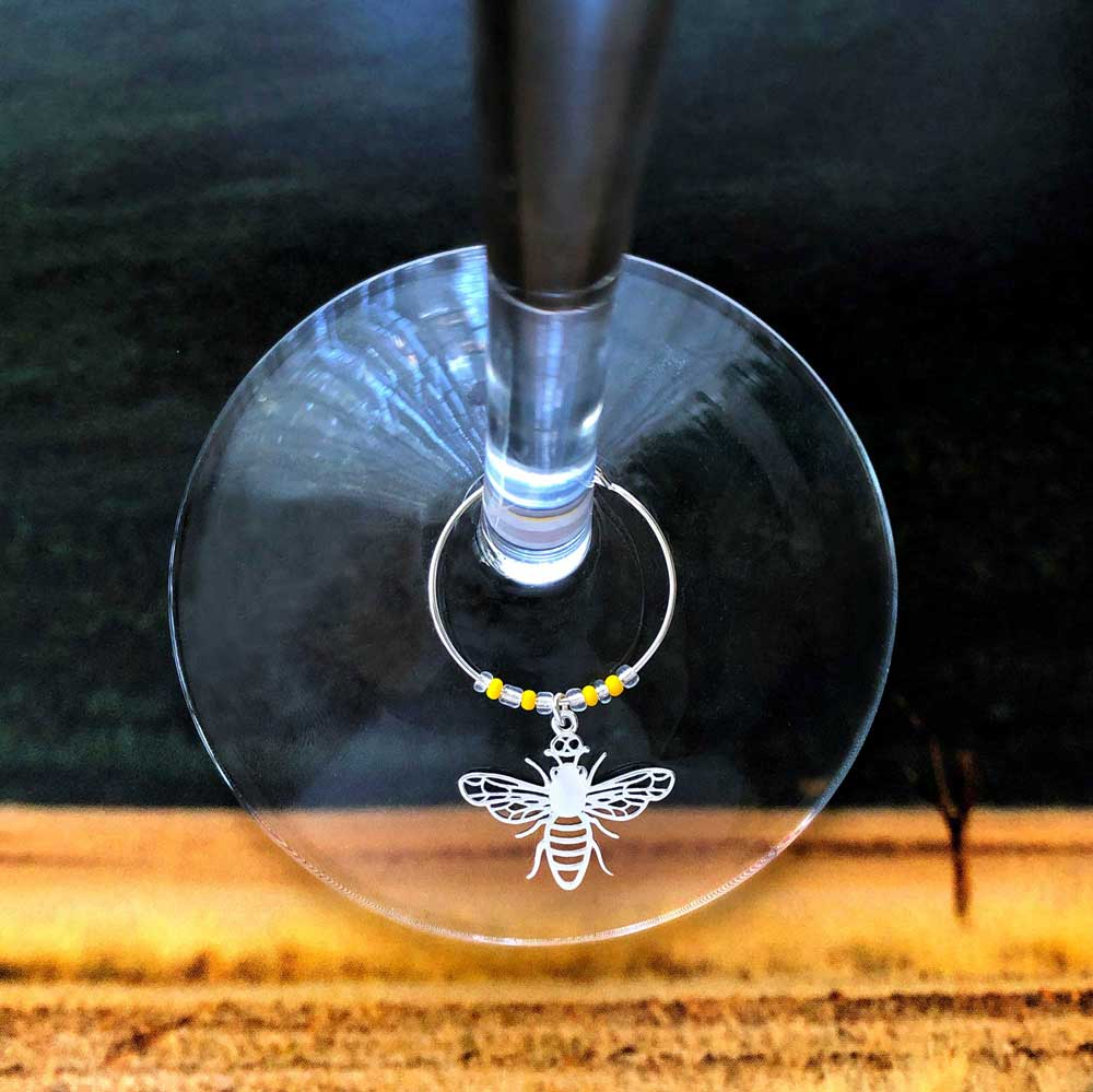 Nyuki Bee Glass Charm by SHIKHAZURI