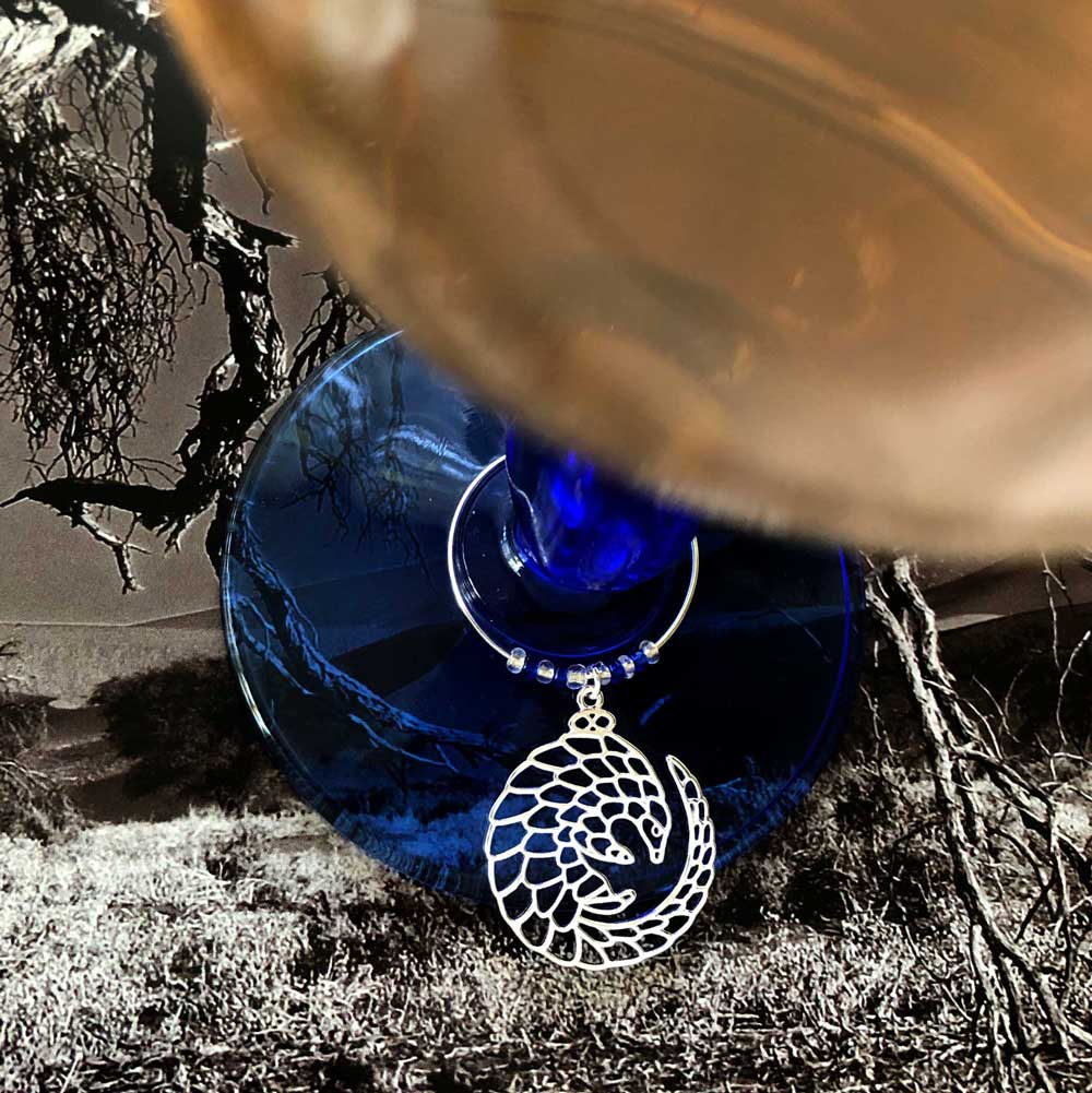 Pangolin Wine Glass Charm Simply Zuri by SHIKHAZURI