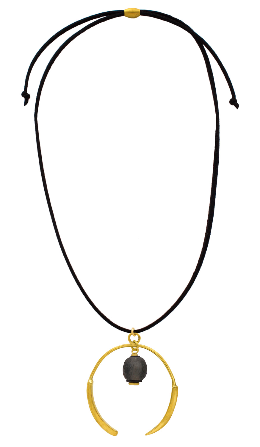 Full length Aza Necklace Suede Cord by SHIKHAZURI