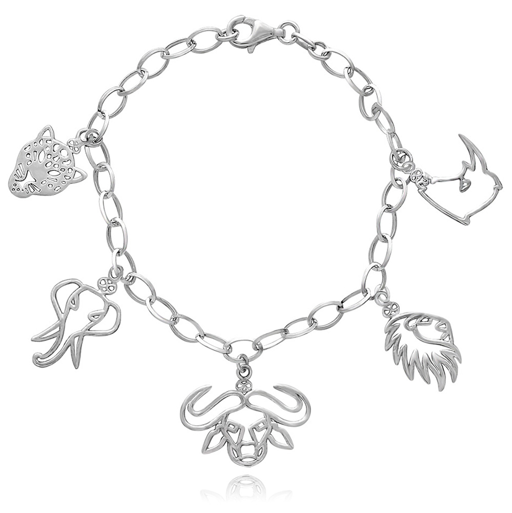 Big Five Animal Charm Bracelet by SHIKHAZURI