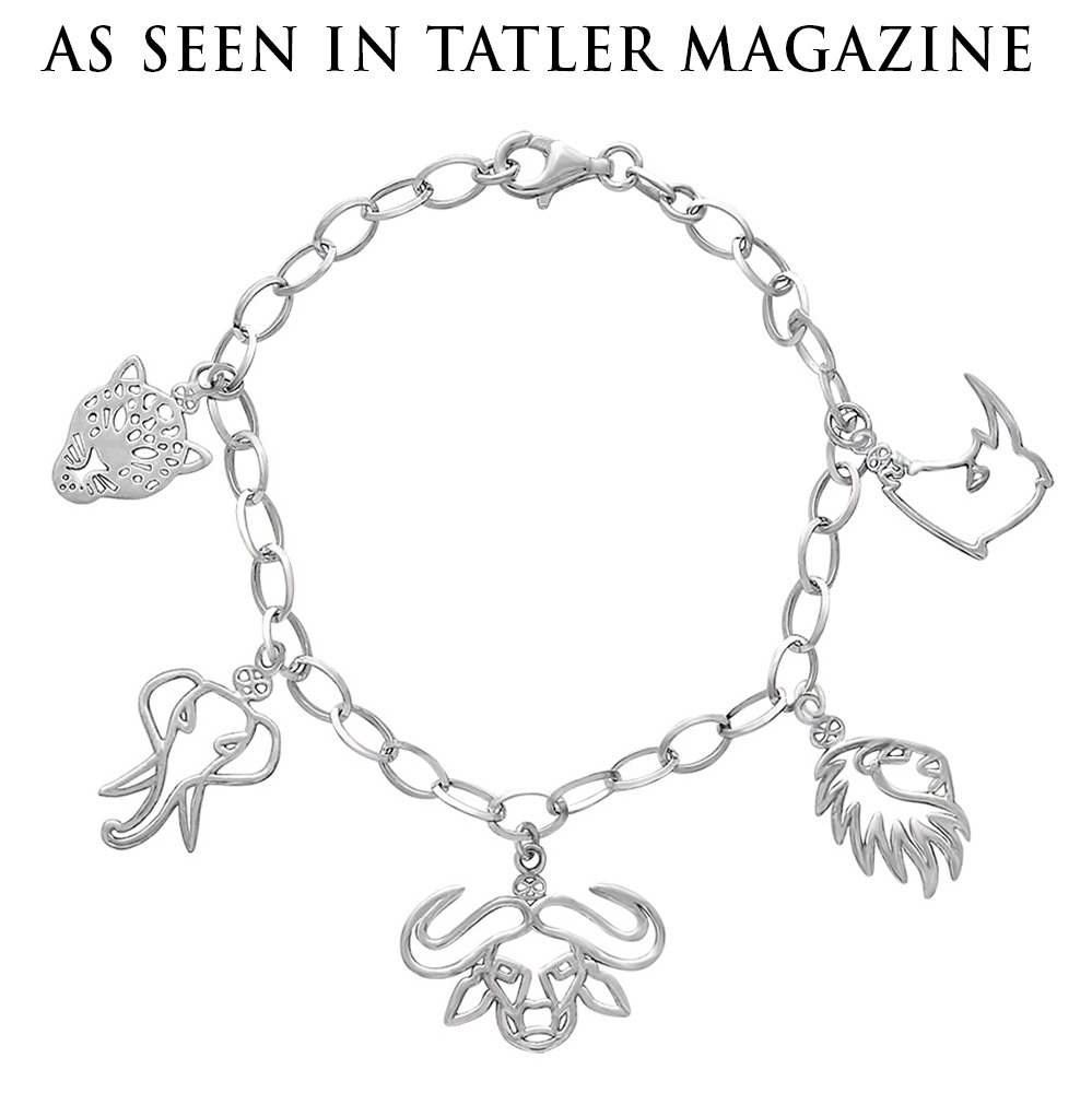 Big Five Charm Bracelet by SHIKHAZURI in Tatler Magazine