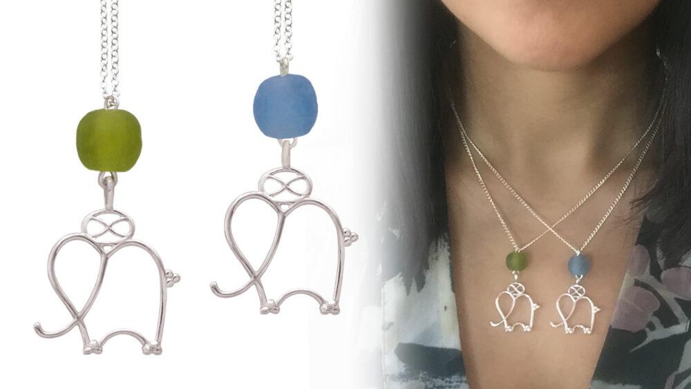 Save the Elephant Necklaces by SHIKHAZURI