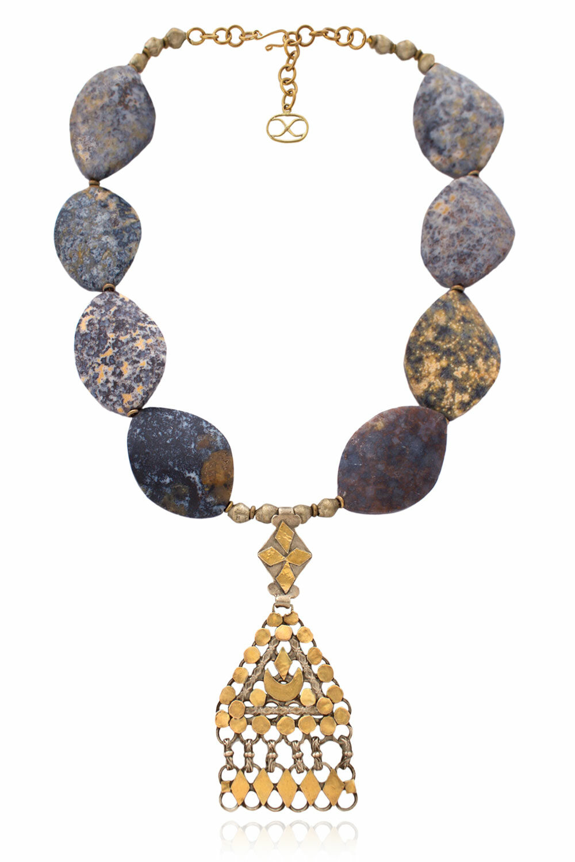 Adaego Omani Triangle Ornament Necklace by SHIKHAZURI