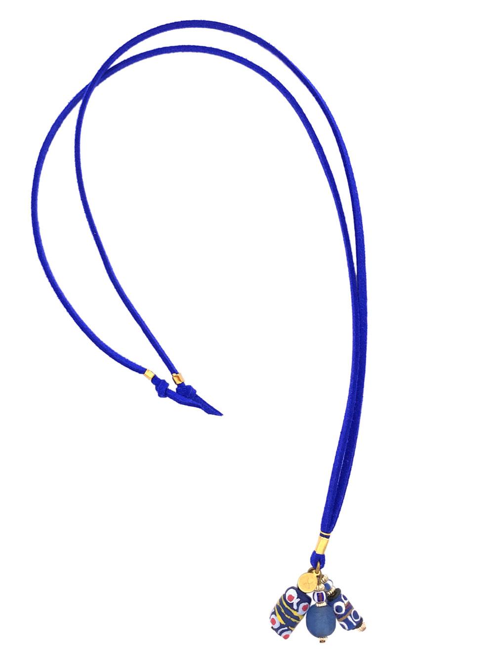 Blue Bookmark Necklace by Shikhazuri