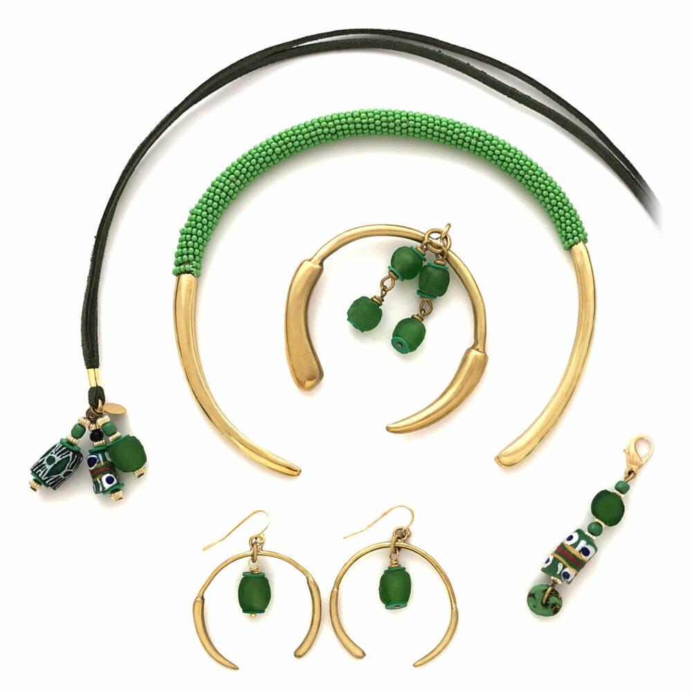 Green Aza Hamper Flatlay by Shikhazuri