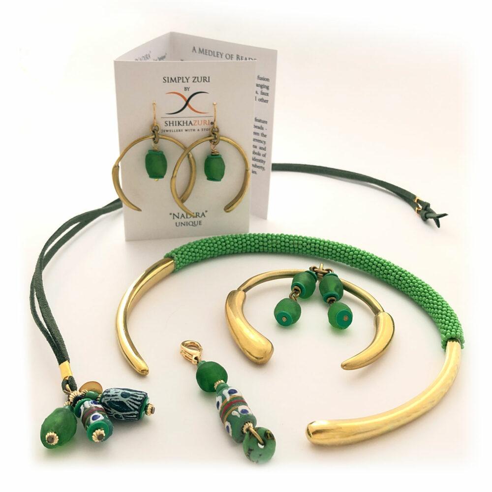 Green Aza Hamper by Shikhazuri