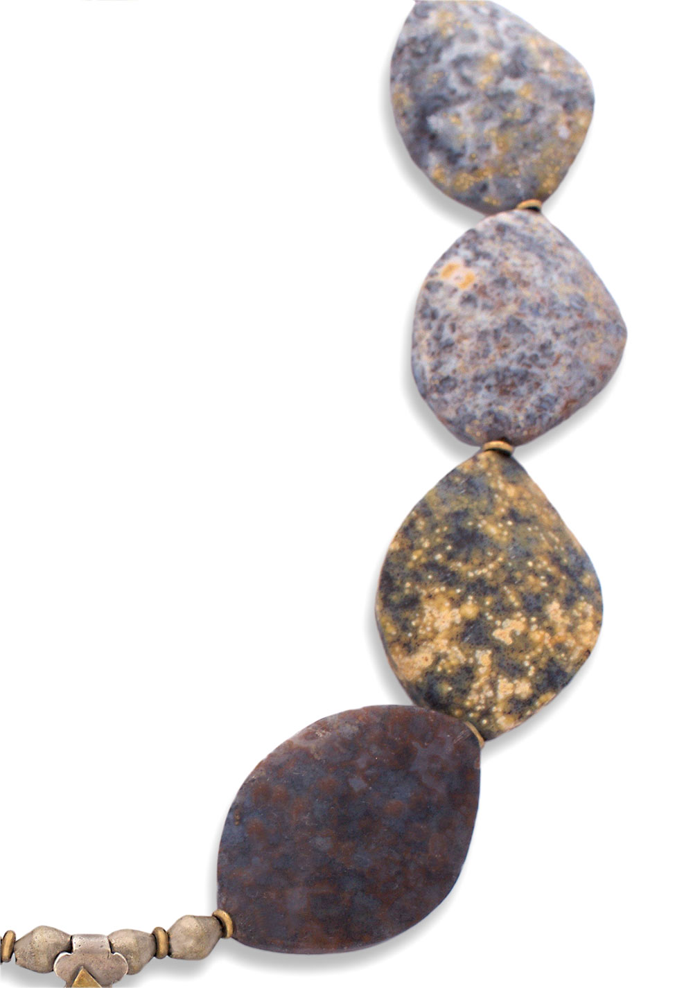 Orbicular Jasper Statement Necklace by SHIKHAZURI
