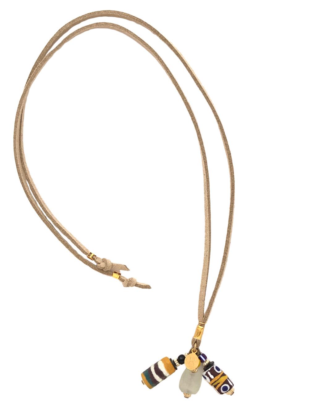 White Aza Bookmark Necklace by Shikhazuri