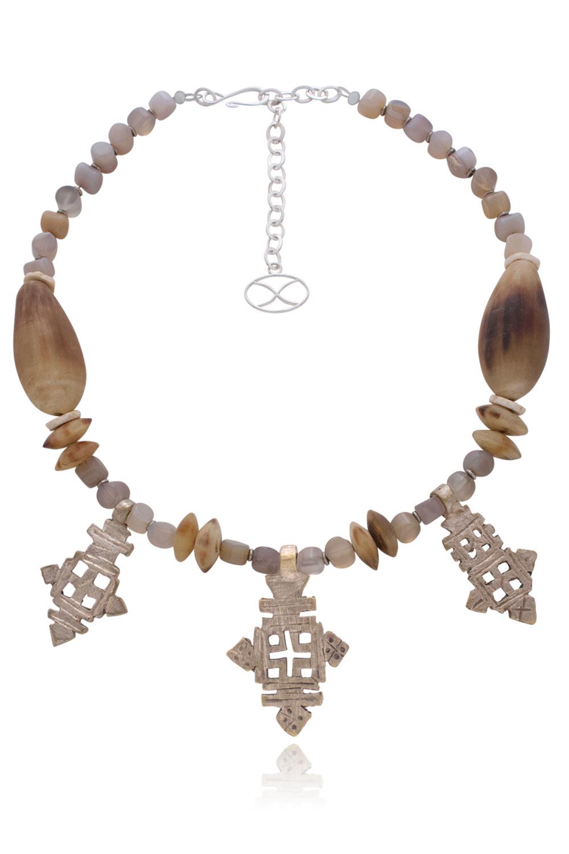 Yakini Ethiopian Cross Necklace by SHIKHAZURI