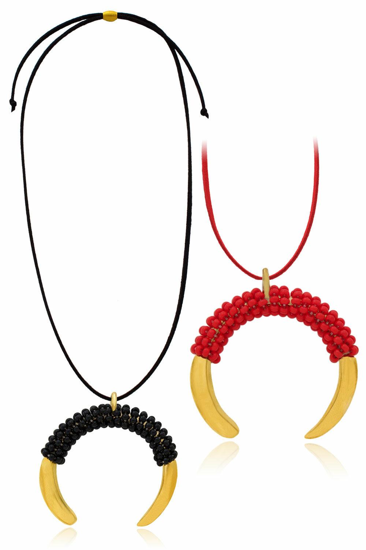 Aza Kenya Beaded Necklace by SHIKHAZURI