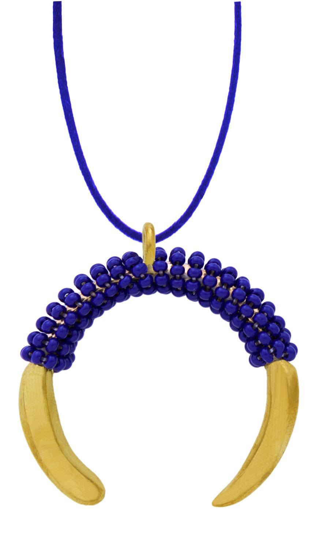 Blue-Aza-Beaded-Pendant-Necklace-Suede-SHIKHAZURI