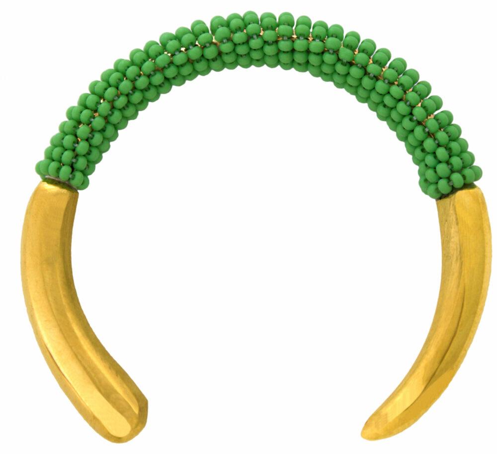 Kenya-Green-Beaded-Bangle-SHIKHAZURI