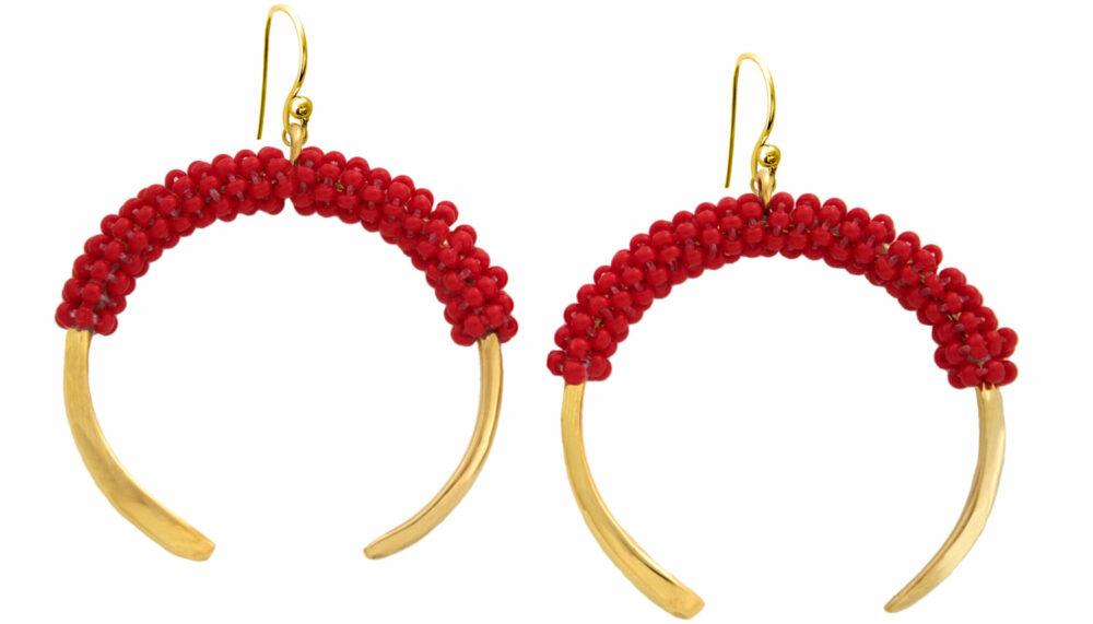 Red-Aza-Beaded-Earrings-SHIKHAZURI