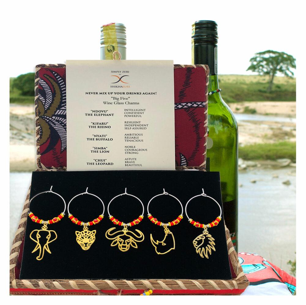 Gold-Plated-Big-Five-Wine-Glass-Charms-SHIKHAZURI