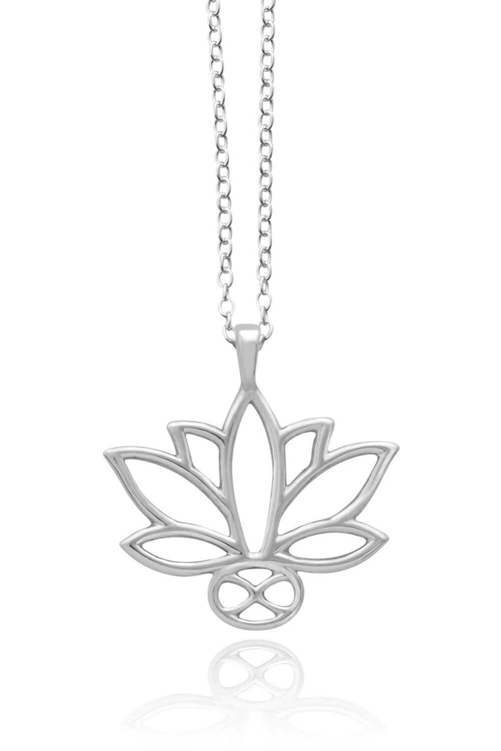 Lotus Sterling Silver Necklace by SHIKHAZURI